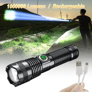 Flashlights Torches P70 LED Torch With Zoom USB Rechargeable Tactical For Hunting Camping 26650 Battery