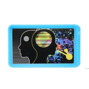 Customized Logo LED Glow Tray Plastic Rolling Tray for Tobacco Storage tray Rechargeable Smoking Serving Plate HWF6241