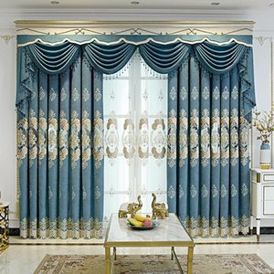 Curtain & Drapes European Style Shading Embroidery Light Luxury Atmosphere Finished Product Curtains For Living Dining Room Bedroom