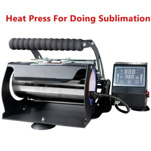 Großhandel! Sublimationsbearbeitung Wärmepressedrucker für 20 uch 30oz 12oz dünn gerader Taste 110V 3 Loch Plug Transfer Pressmaschine A12