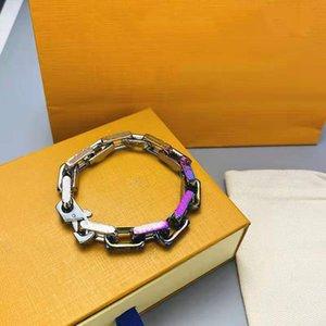 Braceletes de moda para homens fivela de cadeia de mulheres com cristal 4 opções Long Link Correntes Unisex Pulseira Quatro Temporada Jóias