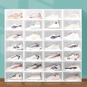 Пылезащищенные коробки для обуви коробки для хранения прозрачных ящиков Тип обувь хранилища пластиковые стойки контейнеры кабинета