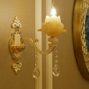 Wall Lamps European Lotus Shape Lamp Light For Bedroom Living Room TV Background Home Decoration