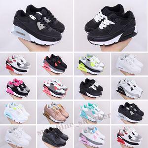 Nike Air Max 90 2018 sapatos Almofada criança Para crianças homens mulheres esporte sapatos meninos meninas Trainers Sapatilhas executar Eur 28-35