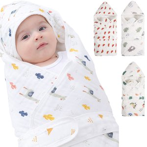 Printed Swaddle Baby Swaddling Cartoon Blanket born Bedding Kids Accessories Super Soft Mattress Infant Quilt Hooded Towel