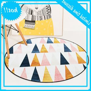 European Geometric Round For Living Room Children Play Tent Bedroom Rug Carpets Computer Chair Floor Mat Cloakroom Carpet