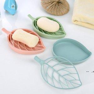 Leaf shape soap holder Non slip soap box Toilet shower tray draining rack bathroom gadgets soap dish tray holder GWD10020