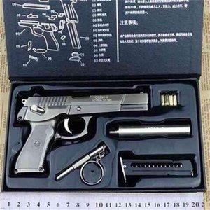 Toda la simulación de metal adulto macho y niño juguete grande desmontaje de municiones en vivo Modelo de municiones en vivo no se puede disparar 1: 2.05