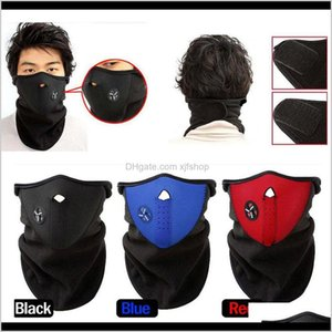 Cycling Caps Masks Neoprene Neck Warm Half Face Winter Veil Windproof For Sport Bike Bicycle Motorcycle Ski Snowboard Outdoor Mask Men Zsf8T