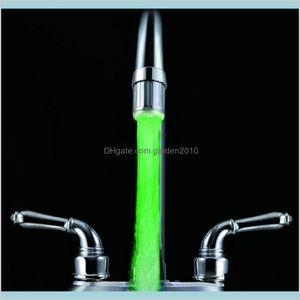 Bath Accessory Set Bathroom Accessories Home & Garden 1 Pc Led Light Water Faucet Tap Heads Temperature Sensor Rgb Glow Shower Stream