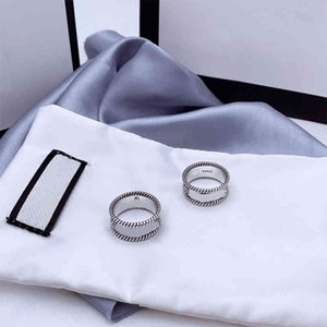 Ring stones letter interweaving pattern engraving rough lace simple versatile multi-functional fashion jewelry