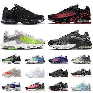 Zapatos max airmax tn plus 3 tuned Venta caliente classic mens womens running shoes triple negro blanco láser azul gris hombres zapatillas deportivas jogging entrenadores