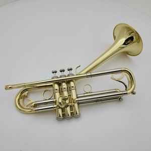 MARGEWATE Brand Curved Bell Trumpet Bb Tune Brass Plated Professional Instrument With Case Mouthpiece Accessories