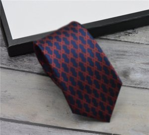 High quality brand Designer tie 100% silk tie with packing box classic ties brand men's casual narrow tieith for gift