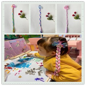 Wig Princess Ice and Children's Snow Wonderland Hair Accessories Cute Bow Hairpin Little Girl Braid Headdress