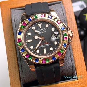 Мужские часы Автоматические механические часы 40 мм Конфеты Diamond Bezel Нержавеющая сталь Бутик Зарупорные Часы Мода Бизнес Мужские Наручные часы
