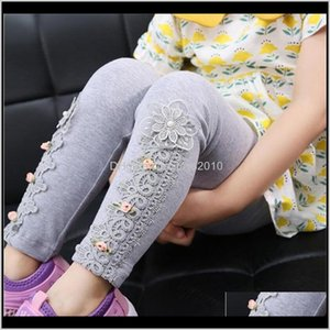 Tights Clothing Baby, Kids & Maternity Drop Delivery 2021 Baby Lace Flower Girls Pencil Pants Childrens Cotton Skinny Trousers Babys Toddler