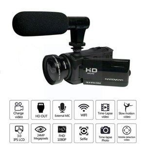 Camcorders 1080P HD 16x Zoom Digital Camcorder Video Camera DV Microphone Recorder External T5X2