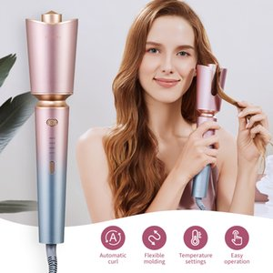 ZHIBAI Automatic Hair Curler Iron Stick Pink Anti-Scalding Shell Thermostatic Hair Styling Tools Wave Iron Stick Big Wave Curler