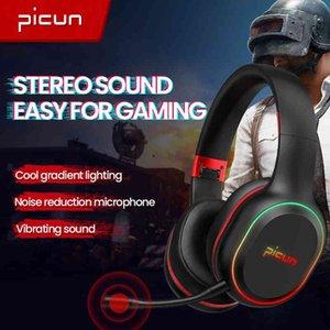 Picun P80x беспроводные наушники, беспроводные наушники, свободный задержка Bluetooth игровая гарнитура, шумоблокировка двойные движения наушники с микрофоном