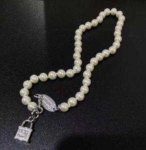 New Fashion Crystal Satellite Planet Collana perla Collana Clavice Catena Collana Barocco Choker per le donne Regalo dei gioielli del partito NRJ