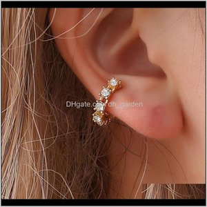 Jewelry Drop Delivery 2021 Vintage Clip On Crystal Ear Cuff Non Pierced Nose Ring Fashion Women Earrings Punk Rock Earcuff Lj2Mc
