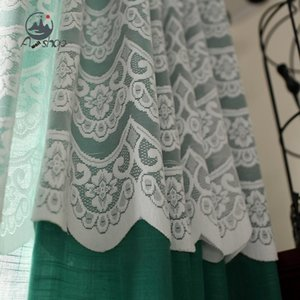 Curtain & Drapes AS Korean Beautiful Princess Style Sweet Window Screen Custom Translucent Bay Curtains For Living Dining Room Bedroom