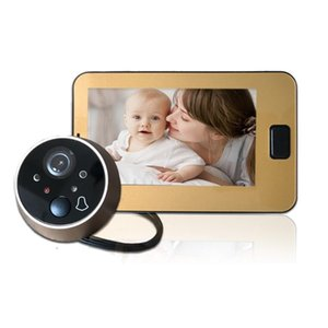 Doorbells 4.3 Inch Color Screen With Electronic Doorbell LED Lights Video Door Viewer Video-Eye Peephole Camera Home Security