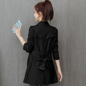 Women's Trench Coats Coat 2021 Spring Korean Style Temperament Youthful-Looking Autumn Draping Mid-Length