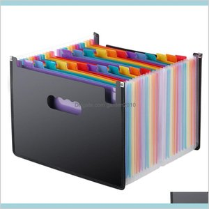 Filing Supplies Products Office & School Business Industrial Expanding File Folder 24 Pockets Black Accordion A4 Drop Delivery 2021 Xd