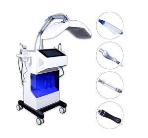 8 в 1 гидроксигенной лицевой оксической водной водной водной гидратной фасцелью кислородный распылитель Gydro Dermabrasion LED светотерапия Машина красоты