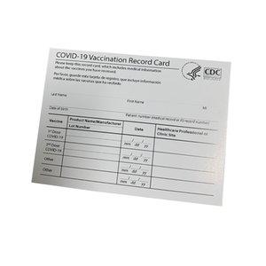 4 * 3inch papel CDC papel de vacinação arquivos de cartão de registro vacinado cartões de visita Preencha as informações de papel de papel CDC em branco