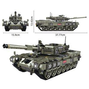سلسلة العسكرية ليوبارد 2 المعركة الرئيسية خزان اللبنات تكنيك الجنود الجيش الثقيلة الطوب الأطفال اللعب الهدايا LJ200925