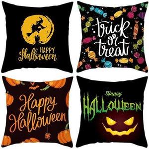 США на сток 24 цвета декоративные подушки наволочки для рождественских подушек на хэллоуин 45 * 45см домашний подарок диван, наклонный татуировка флис наволочка подушка текстиль