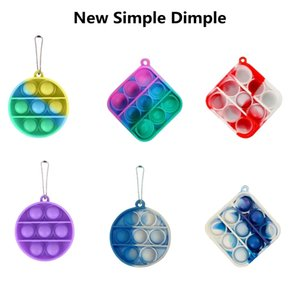 Figet Simple Dimple Toy Kids Adult New Mini Pop It Office Controller Fidgets Anti-stress Board Fitget Toy Autism Simpel Dimpel