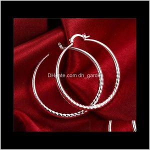 Hoop Hie Sterling Plated Circular Section Diamond Womens 925 Sier Dangle Chandelier Earrings Ps1859 Hoosc Q3Dhj
