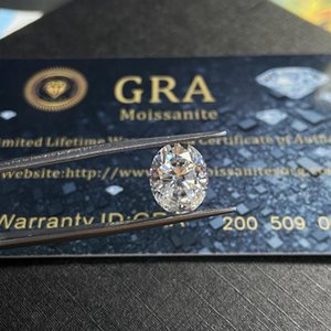 Loose Diamonds Lab Created Grown Diamond With GRA Certificate Stone Oval Cut 8*10mm VVS D Color White Moissanite