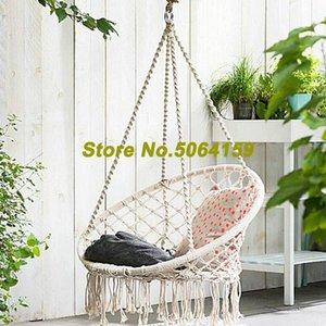 Nordic Style Round Hammock Outdoor Indoor Dormitory Bedroom Hanging Chair For Children Adult Swinging Safety Muticolor Games & Activities