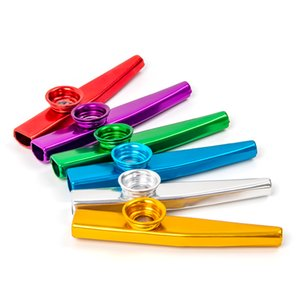 6Pcs Lot Kazoo Mouth Flute Kids Party Gift Item Orff Musical Instrument Metal