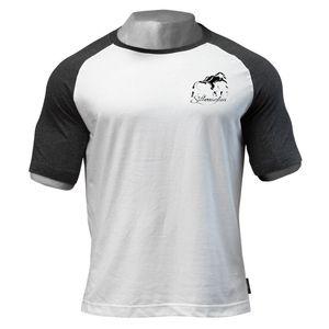 Summer T-shirt Summer Cotton Printed Short Sleeve Men's Sports Fitness Top