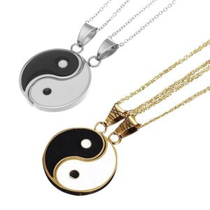 Pcs Set Stainless Steel Yin Yang Pendant Puzzle Piece Necklace Birthday Jewlery Gifts For Couple Or Friends Necklaces