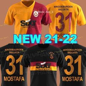 21 22 Galatasaray 축구 유니폼 2021 2021 Gomis Linnes Cigersi Belhanda Fernando Feghouli Donk 홈 멀리 축구 셔츠