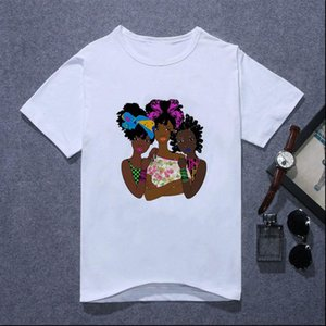 Womens T Shirt Harajuku Melanin Girl Magic Kawaii Queen Friends Viper Gothic Female Hip hop Graphic Tee