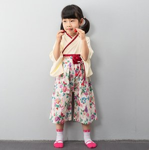 Rompers 여름 키즈 아기 소년 소녀 일본 의류 코튼 플로랄 나비 기모노 긴 소매 romper 잠옷 어린이 의류