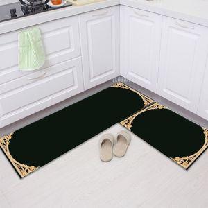 Tasarımcı halılar kapı ev kat banyo tuvalet emici kaymaz paspaslar yatak odası mutfak pedi özelleştirilebilir