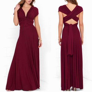 Dress Women Long Summer Convertible Bohemian Dresses Casual Bandage Evening Prom Club Party Infinity Multiway Maxi Dresses