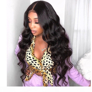 Mongolian Lace Front Wig with Baby Hair Body Wave Glueless Full Lace Wig 130% Density Natural Color Human Hair Wig