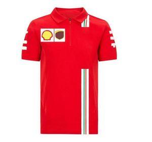 F1 Formula One Polo рубашка спортивные повседневные с короткими рукавом отворотный гоночный костюм автомобильная одежда на заказ гоночный костюм шелковый лапша одежда