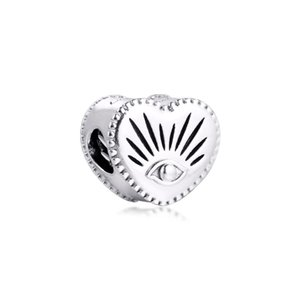 2020 New Winter Fits Pandora Bracelet Real 925 Sterling Silver All-seeing Eye & Heart Charm Beads for Women Jewelry DIY Making wholesale