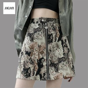Skirts Early Spring European And American Style Women's Wholesale High Waist Zipper Cute Cat Skirt Quality Top Selling Products